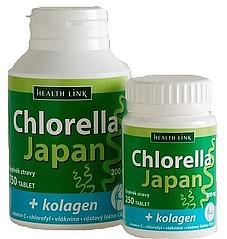 Chlorella Japan s kolagénom 200 mg. 750 tbl.